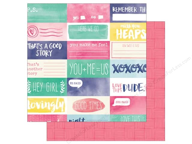 American Crafts 12 x 12 in. Paper Amy Tangerine Better Together Give & Take (25 sheets)