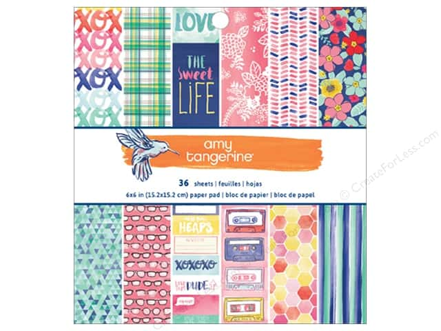 American Crafts 6 x 6 in. Paper Pad Amy Tangerine Better Together