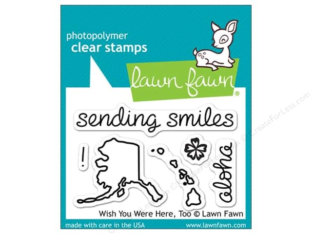 Lawn Fawn Clear Stamp Wish You Were Here, Too