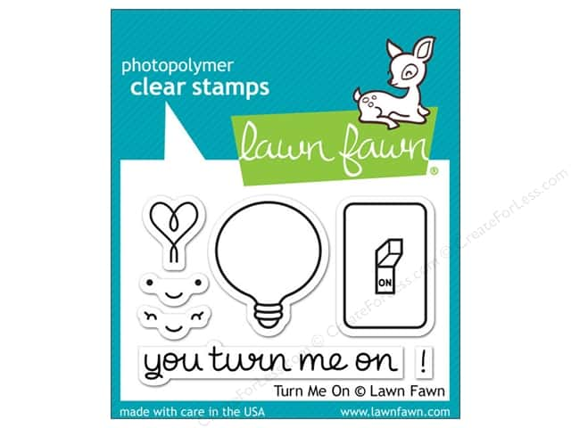 Lawn Fawn Clear Stamp Turn Me On