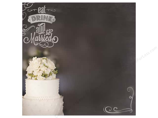 "Paper House Paper 12""x 12"" Eat Drink & Be Married (25 sheets)"