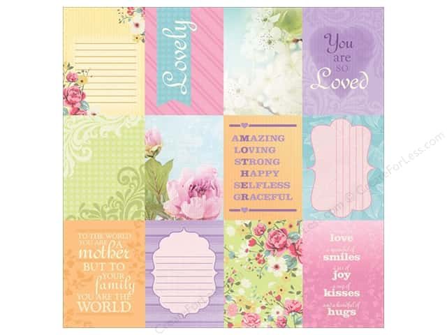 "Paper House Paper 12""x 12"" Mom Tags (25 sheets)"