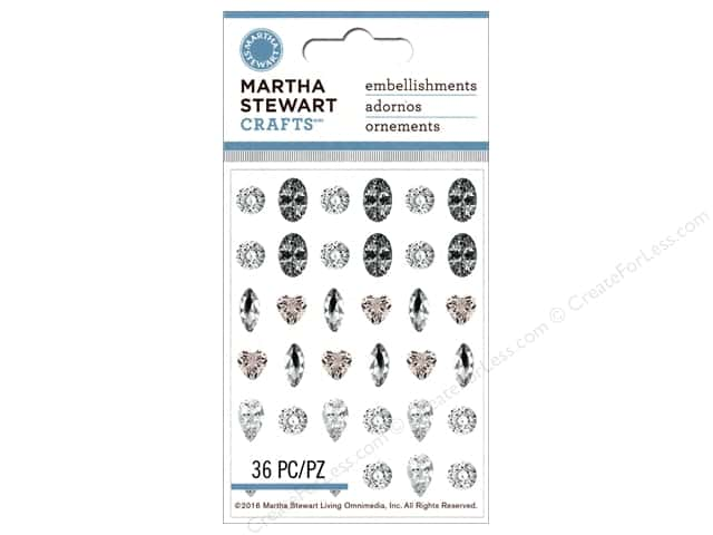 Martha Stewart Sticker Rhinestone Geometric Shapes