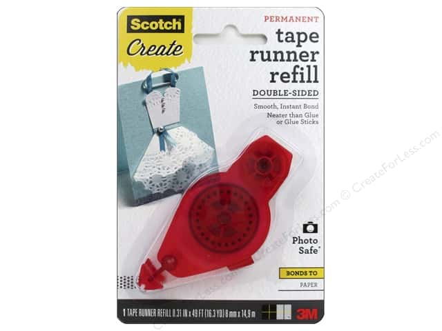 Scotch Adhesive Dot Roller Tape Runner Refill Permanent 49 ft.