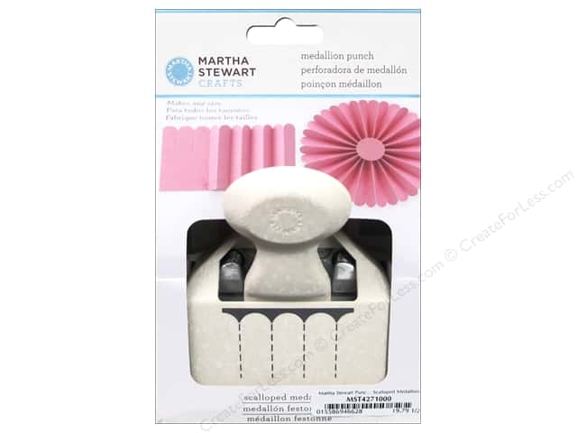Martha Stewart Punch Deep Edge Scalloped Medallion