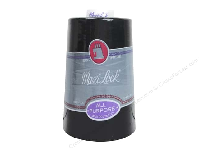 Maxi-Lock Serger Thread 6000 yd. #2 Black