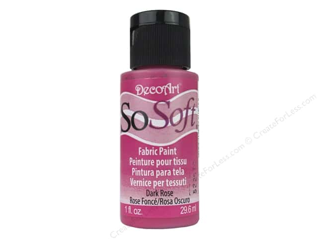 DecoArt SoSoft Fabric Paint 1 oz. #94 Dark Rose