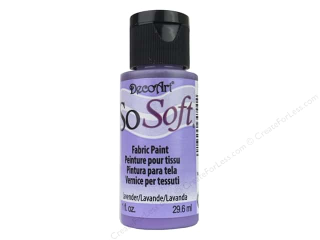 DecoArt SoSoft Fabric Paint 1 oz. #12 Lavender
