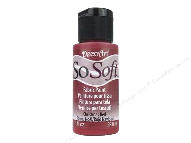 DecoArt SoSoft Fabric Paint 1 oz. #25 Christmas Red