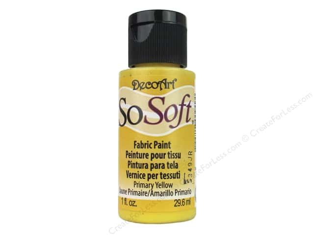 DecoArt SoSoft Fabric Paint 1 oz. #37 Primary Yellow