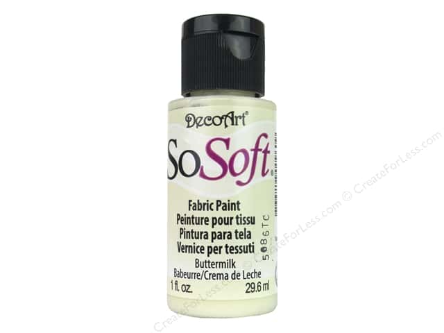 DecoArt SoSoft Fabric Paint 1 oz. #48 Buttermilk