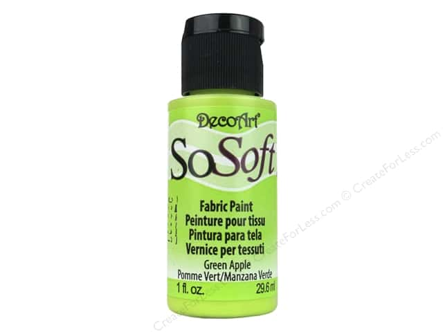 DecoArt SoSoft Fabric Paint 1 oz. #75 Green Apple