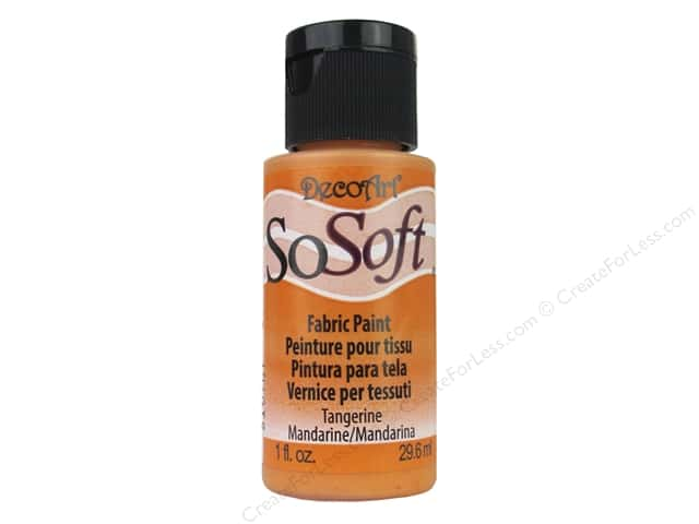 DecoArt SoSoft Fabric Paint 1 oz. #76 Tangerine