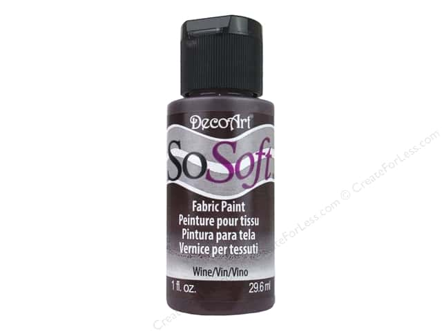 DecoArt SoSoft Fabric Paint 1 oz. #95 Wine