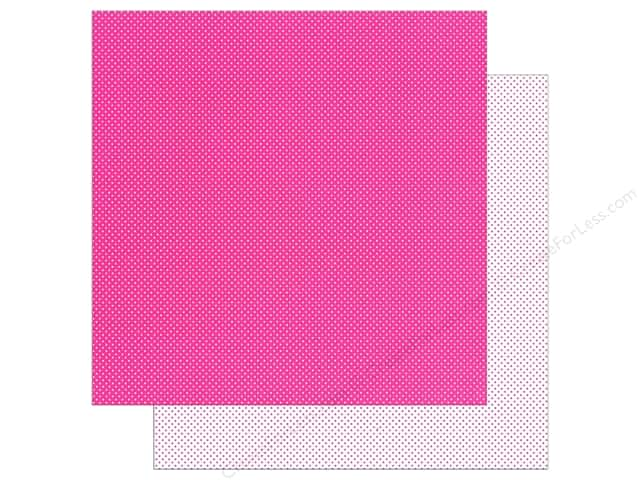 Doodlebug Paper 12 x 12 in. Swiss Dot Petite Bubblegum (25 sheets)