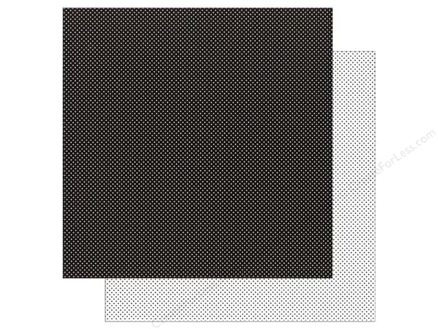 Doodlebug Paper 12 x 12 in. Swiss Dot Petite Beetle Black (25 sheets)