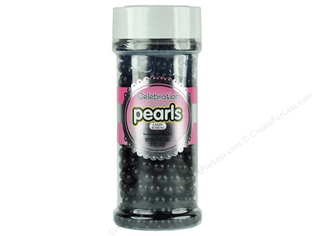 SweetWorks Celebration Pearls 5 oz. Black