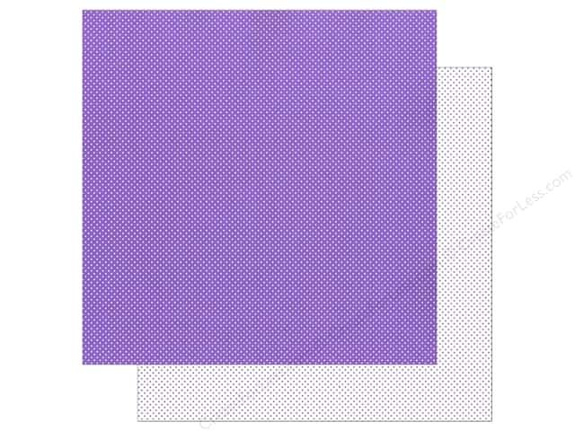Doodlebug 12 x 12 in. Paper Swiss Dot Petite Orchid (25 sheets)