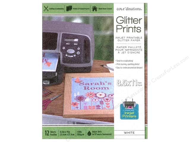 Coredinations Glitter Prints Paper Pad 8 1/2 x 11 in. White 12 pc.