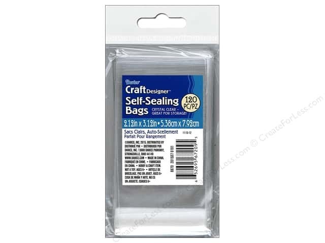 Darice Self Seal Storage Bags 2 3/16 x 3 3/16 in. 120 pc. Clear