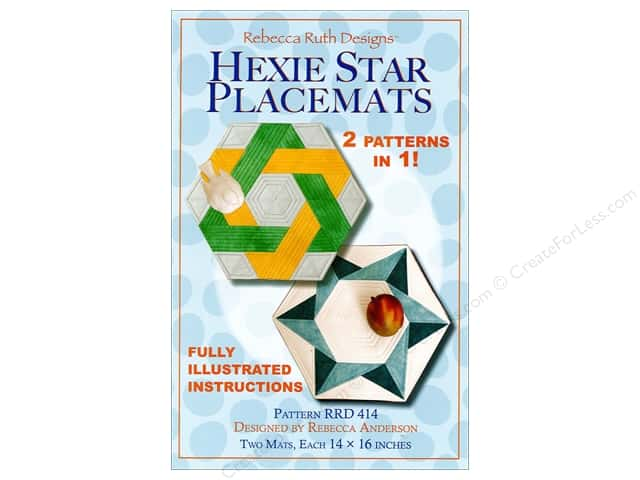 Rebecca Ruth Designs Hexie Star Placemats Pattern