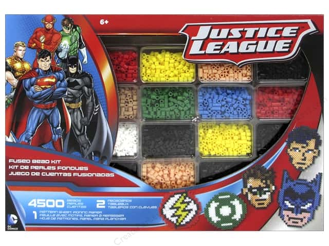 Perler Fused Bead Kit Deluxe Justice League 4500pc