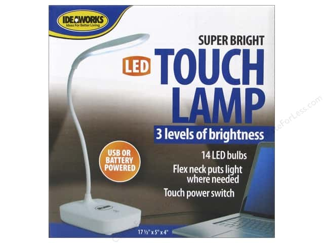 Ideaworks Light Super Bright LED Touch Lamp USB/Battery