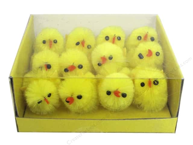"Darice Decor Polyester Chick 1"" 12pc"