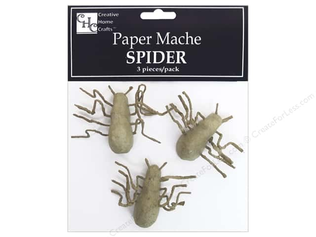 Paper Mache Mini Spider 3 pc. by Craft Pedlars