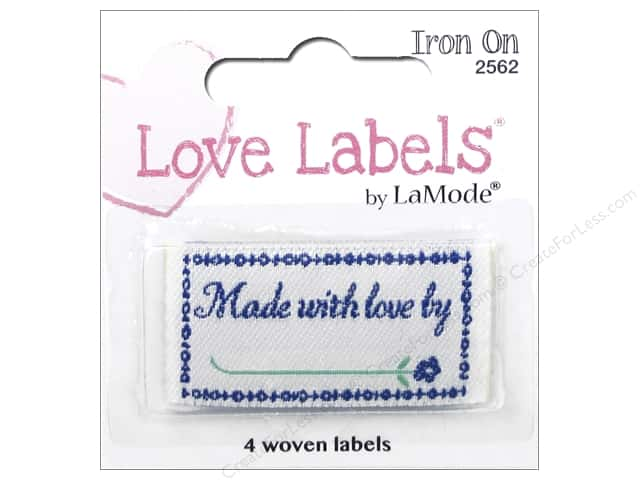 Blumenthal Iron-On Lovelabels 4 pc. Made with Love By