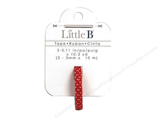 Little B Decorative Paper Tape 1/8 in. Red with Mini White Polka Dots 2 pc.