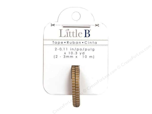 Little B Decorative Paper Tape 1/8 in. Thin Gold Stripes 2 pc.