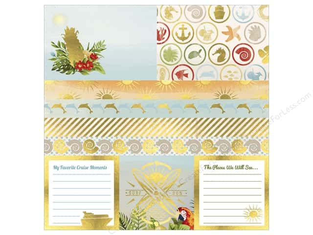 Bo Bunny 12 x 12 in. Vellum Beach Therapy Foil (12 sheets)