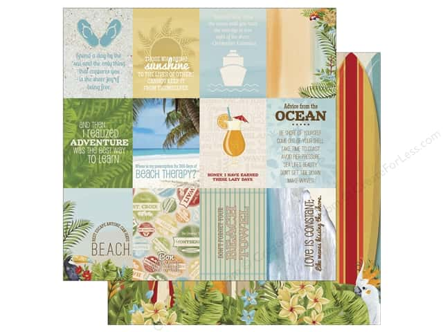 Bo Bunny 12 x 12 in. Paper Beach Therapy Cruise (25 sheets)