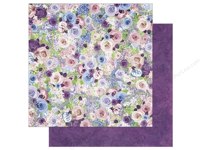 Bo Bunny 12 x 12 in. Paper Secret Garden Collection Roses (25 sheets)