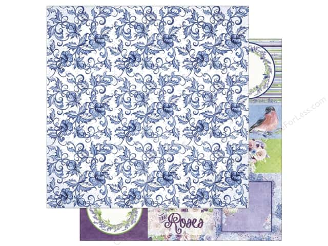 Bo Bunny 12 x 12 in. Paper Secret Garden Collection Trellis (25 sheets)