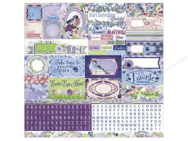 Bo Bunny Stickers Secret Garden Combo (12 sheets)
