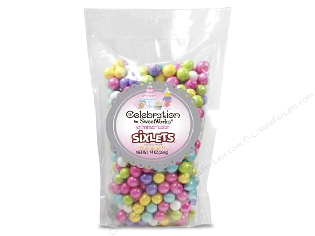 SweetWorks Celebration Sixlets 14 oz. Shimmer Spring Mix
