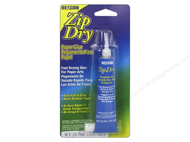 Beacon Zip Dry Paper Glue 1 oz.Precision Tip