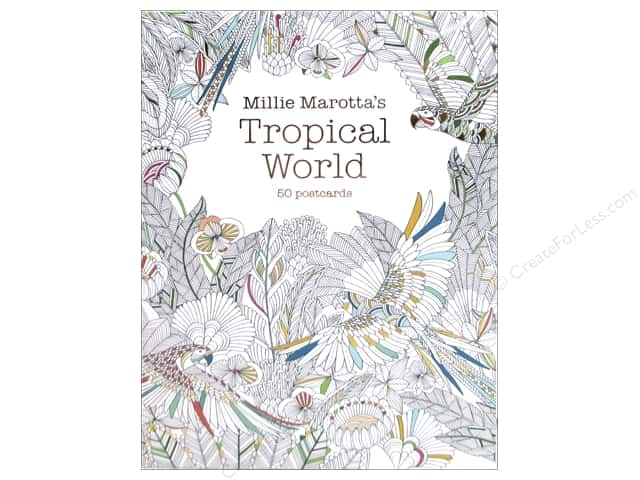 Lark Millie Marotta's Tropical World Coloring Postcards
