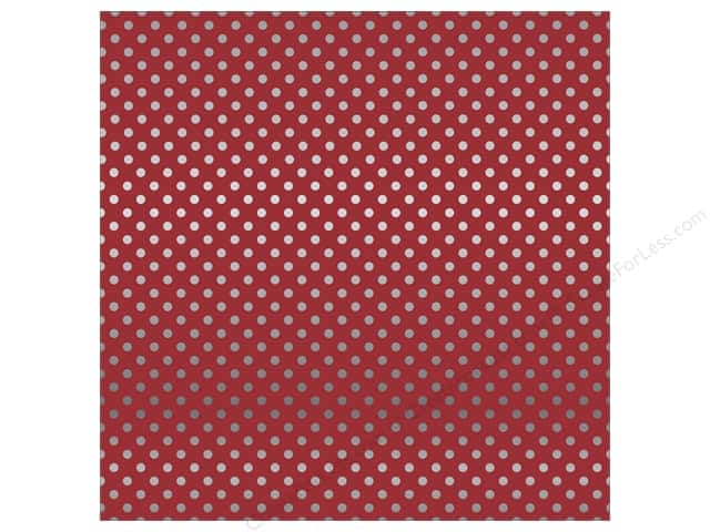 Carta Bella 12 x 12 in. Paper Dots Silver Foil/Red (15 sheets)