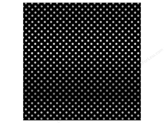 Carta Bella 12 x 12 in. Paper Dots Silver Foil/Black (15 sheets)