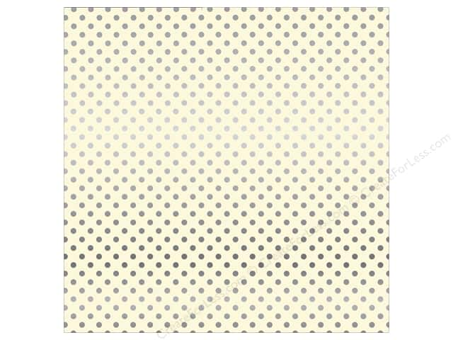 Carta Bella 12 x 12 in. Paper Dots Silver Foil/Cream (15 sheets)