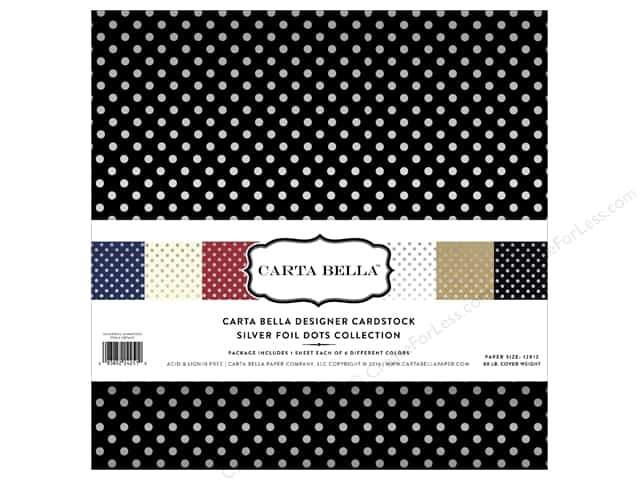 Carta Bella 12 x 12 in. Collection Kit Dots Silver Foil