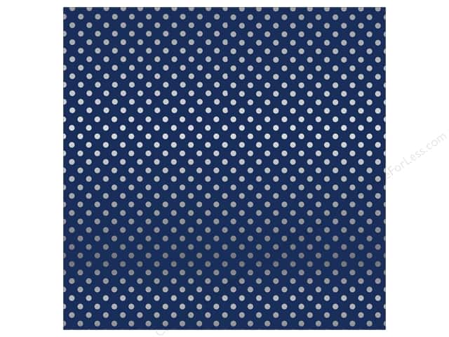 Carta Bella 12 x 12 in. Paper Dots Silver Foil/Navy (15 sheets)
