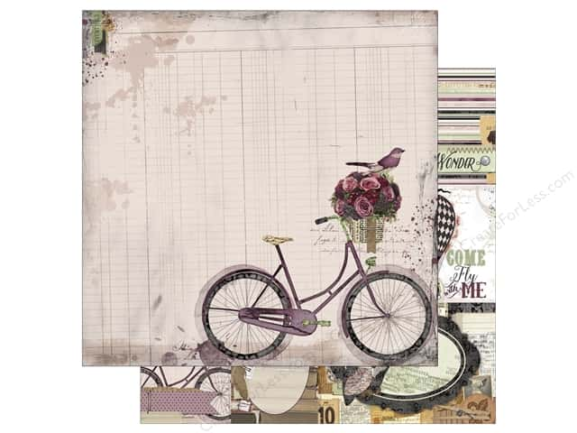 Bo Bunny 12 x 12 in. Paper Beautiful Dreamer Bicycle (25 sheets)