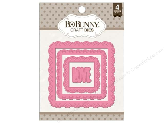 Bo Bunny Craft Dies 4 pc. Love Squared