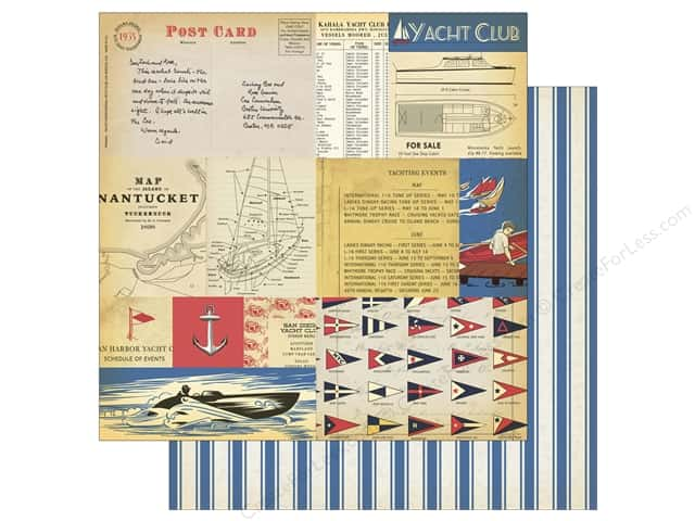 Carta Bella 12 x 12 in. Paper Yacht Club Yacht Cards (25 sheets)