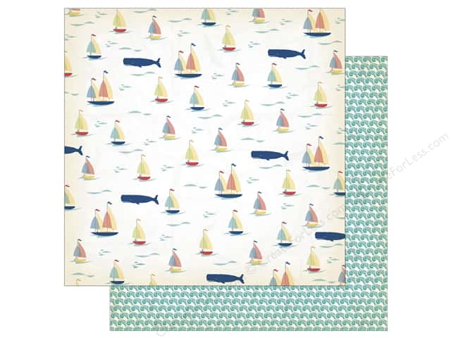 Carta Bella 12 x 12 in. Paper Yacht Club Whale Of A Tail (25 sheets)