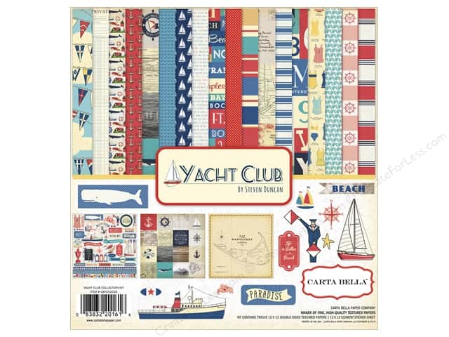 Carta Bella 12 x 12 in. Collection Kit Yacht Club